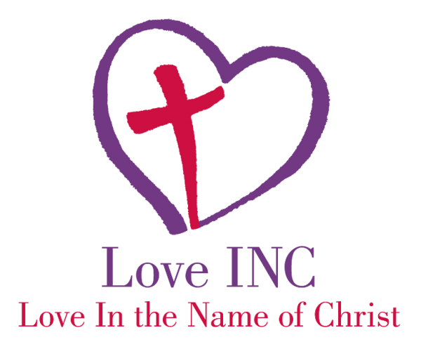 LOVE INC Love in the Name of Christ Logo