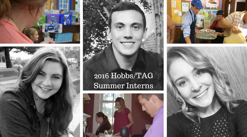2016 Hobbs/TAG Team Student Interns