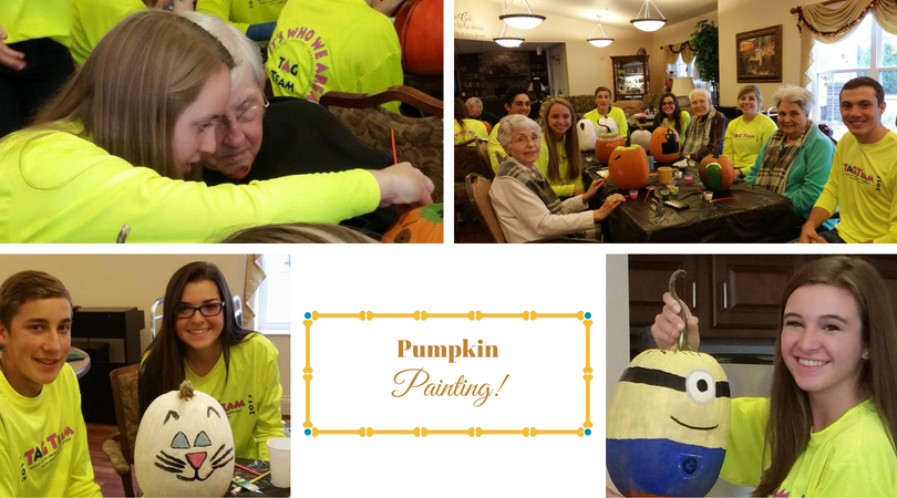 Pumpkin Painting with the ACCF TAG Team
