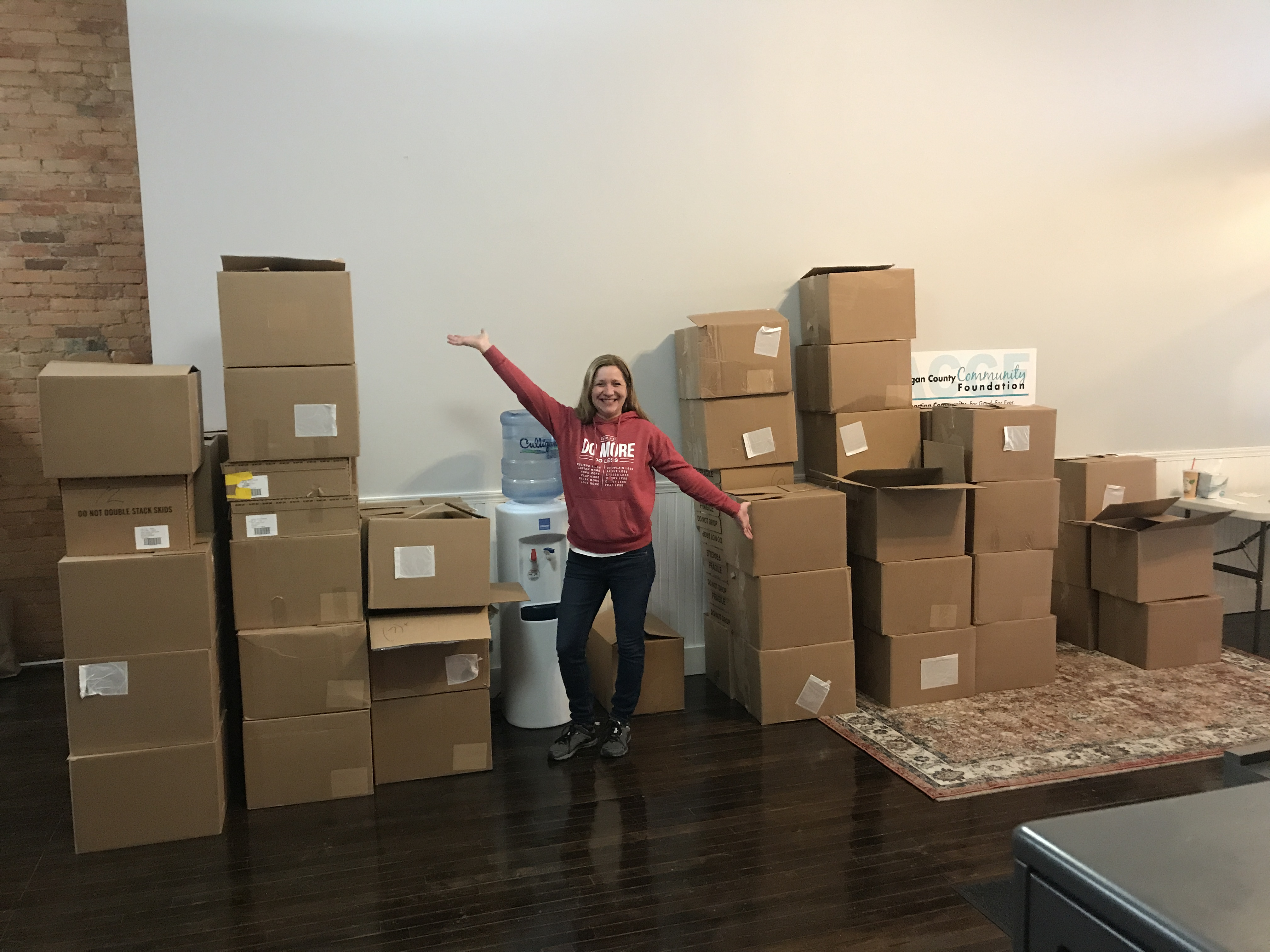 Tracey with Perrigo donations