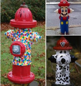 Paint fire hydrants around your hometown