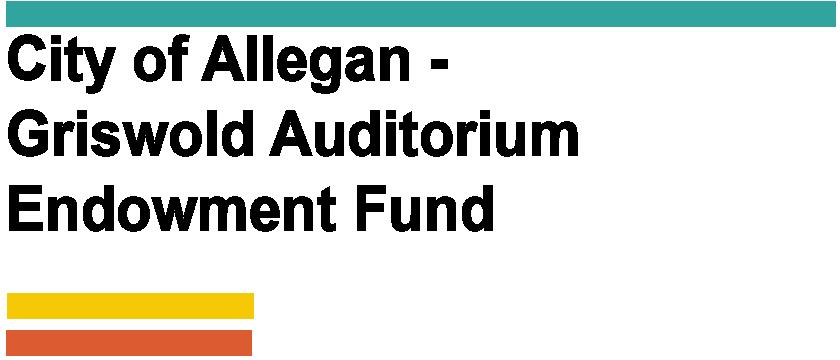 City of Allegan - Griswold Auditorium Endowment Fund Logo