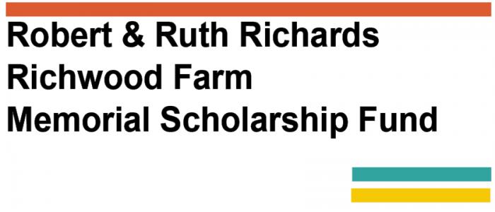 Robert & Ruth Richards Richwood Farm Memorial Scholarship Fund logo