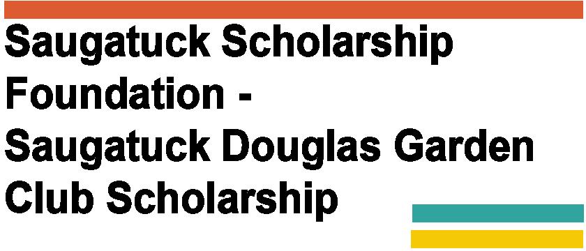 Saugatuck Douglas Garden Club Scholarship Logo