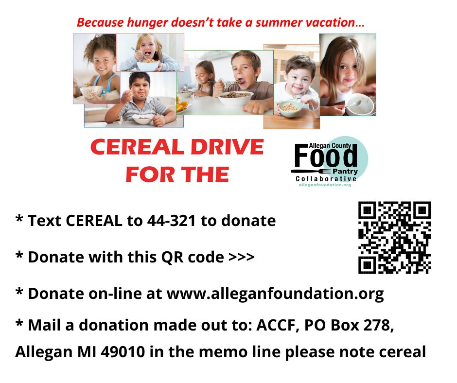 cereal drive information