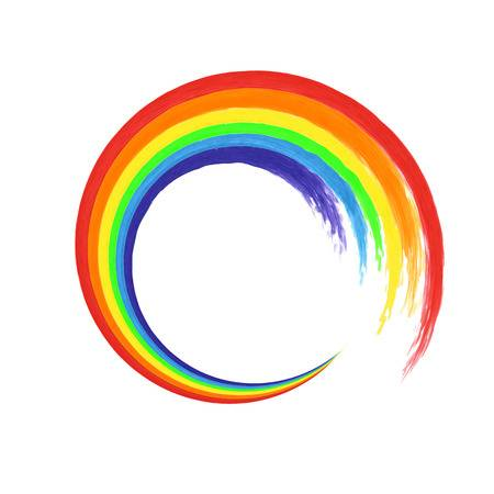 rainbow swirl artwork